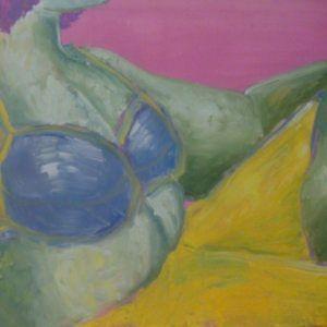 """Glezna """"Dāma atpūšas (Pavasaris). 2014"""""""