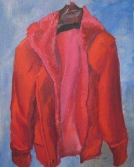 "Glezna ""Sarkanā jaka. 2015"""