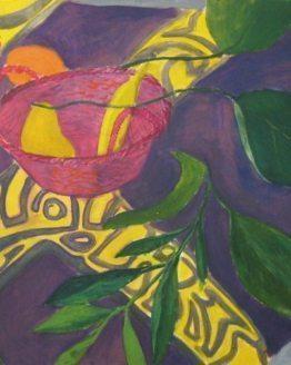 """Glezna """"Klusā daba ar augļiem"""""""