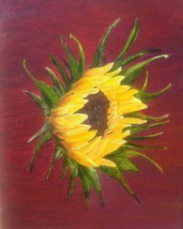 """Glezna """"Saulespuķe"""""""