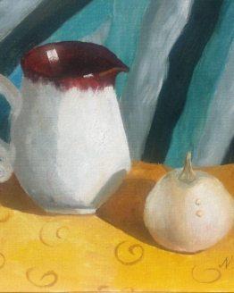 """Glezna """"Krūka un ķirbis"""""""