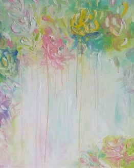 "Glezna ""Saule, pavasaris, ziedi"""