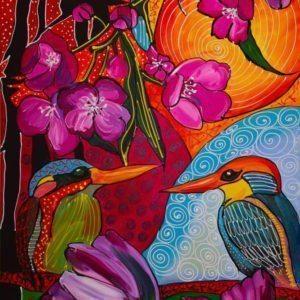 Kristīnes Lapsas-Kalniņas gleznas